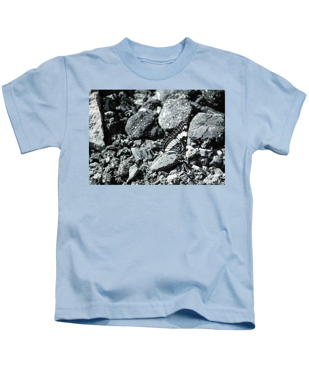 Butterfly Kids T-Shirt featuring the photograph Rising Ashes by Chelsea Brodin