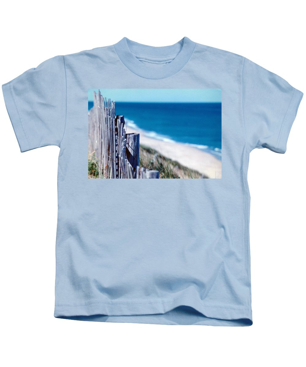 Photograph Kids T-Shirt featuring the photograph Seafence by Steven Scanlon