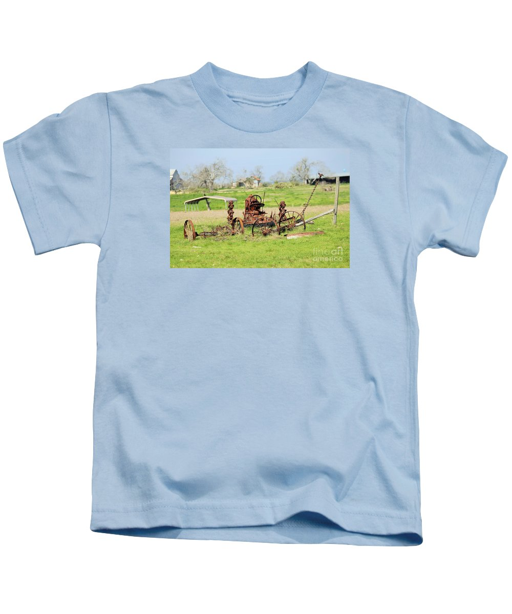 Farm Stuff Kids T-Shirt featuring the photograph Tractor 005 by Jeff Downs