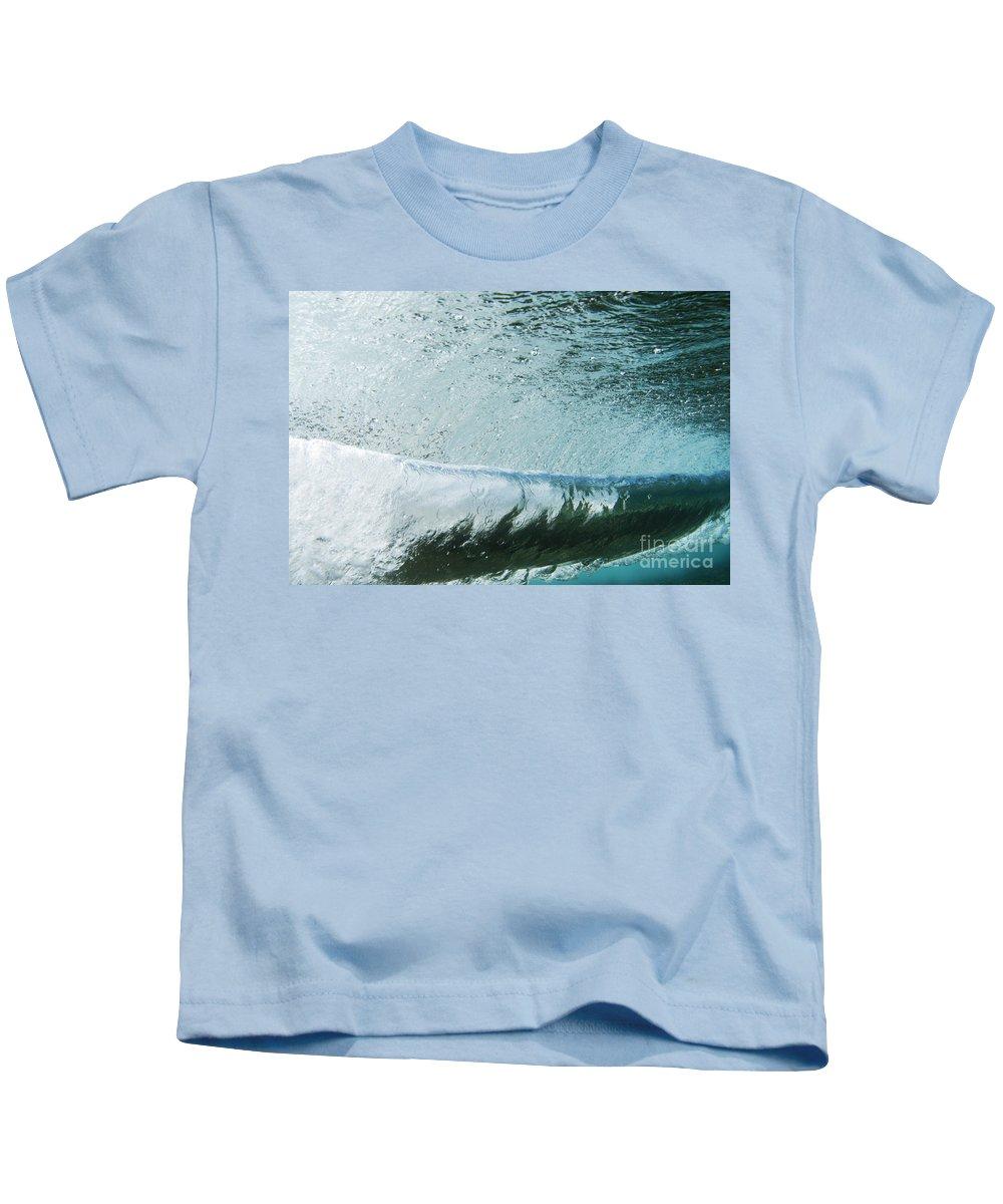 Amaze Kids T-Shirt featuring the photograph Underwater Barrel by Vince Cavataio - Printscapes