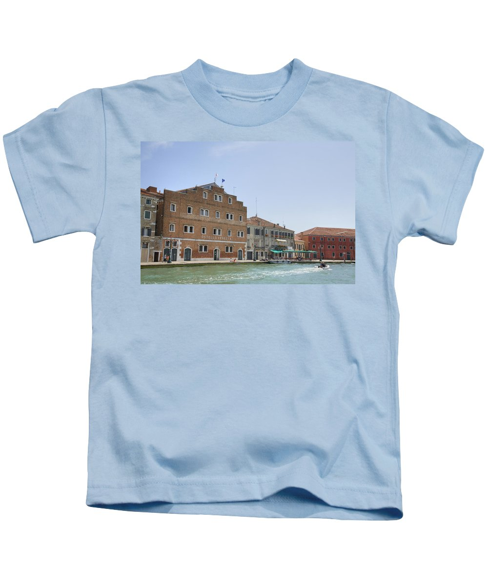 Venice Kids T-Shirt featuring the photograph Venice Italy by Ian Middleton