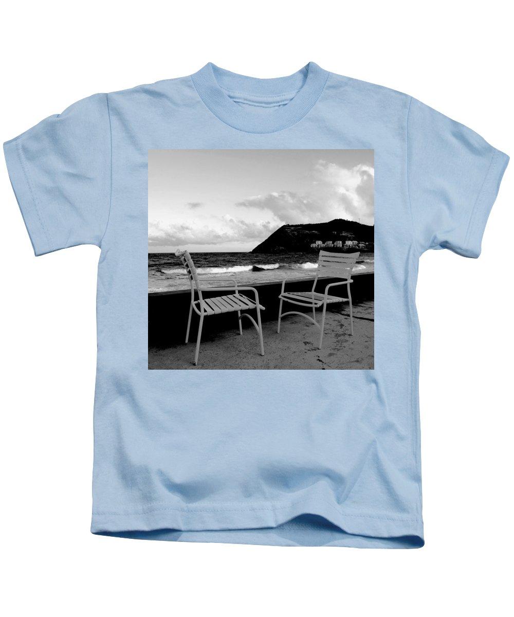 Ocean Kids T-Shirt featuring the photograph Waiting by Ian MacDonald