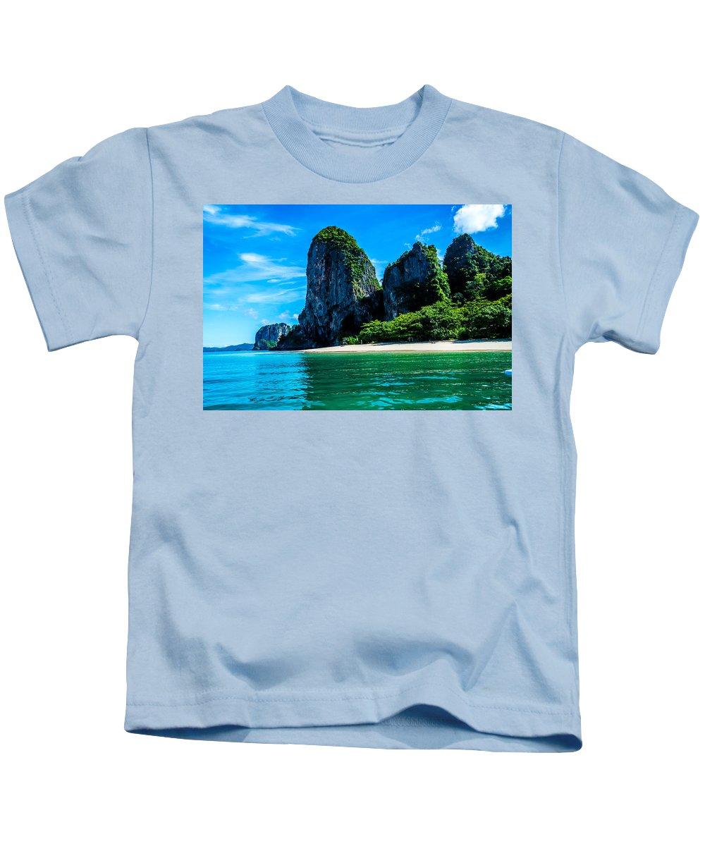 Beach Kids T-Shirt featuring the photograph Krabi Beach 2 by Jijo George