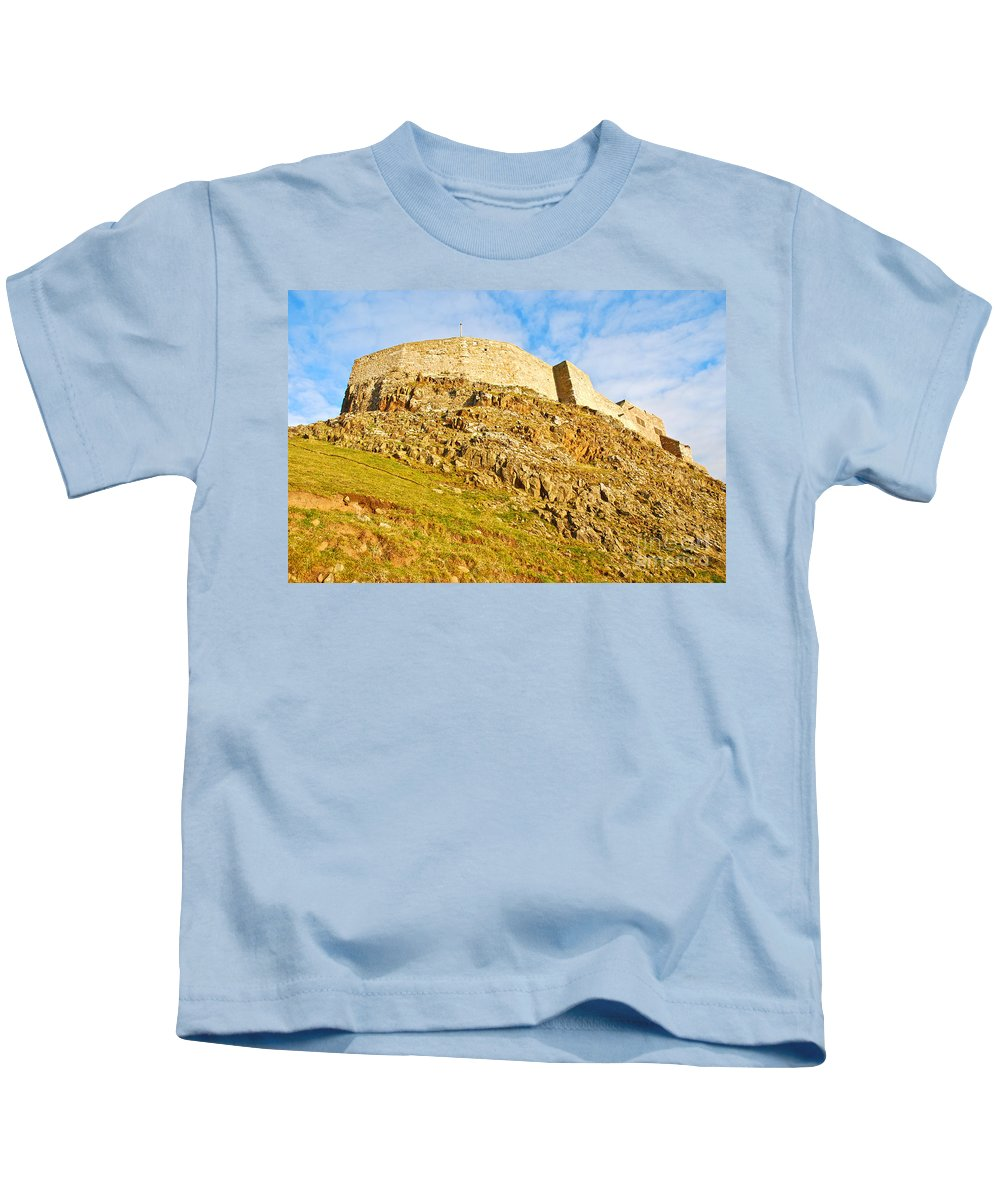 Lindisfarne Castle Kids T-Shirt featuring the photograph Lindisfarne Castle by Kayme Clark