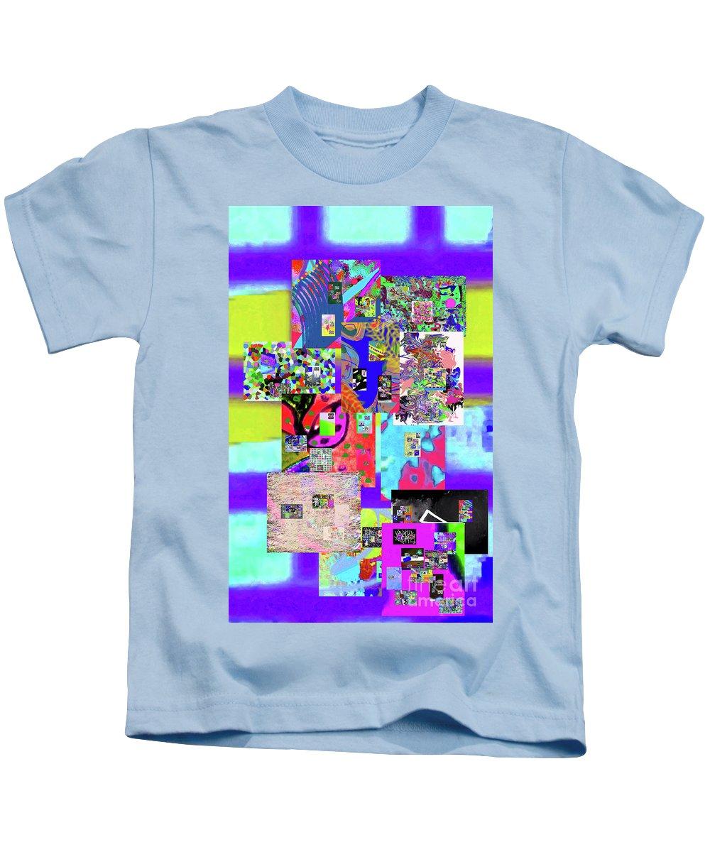 Walter Paul Bebirian Kids T-Shirt featuring the digital art 12-27-2016a by Walter Paul Bebirian