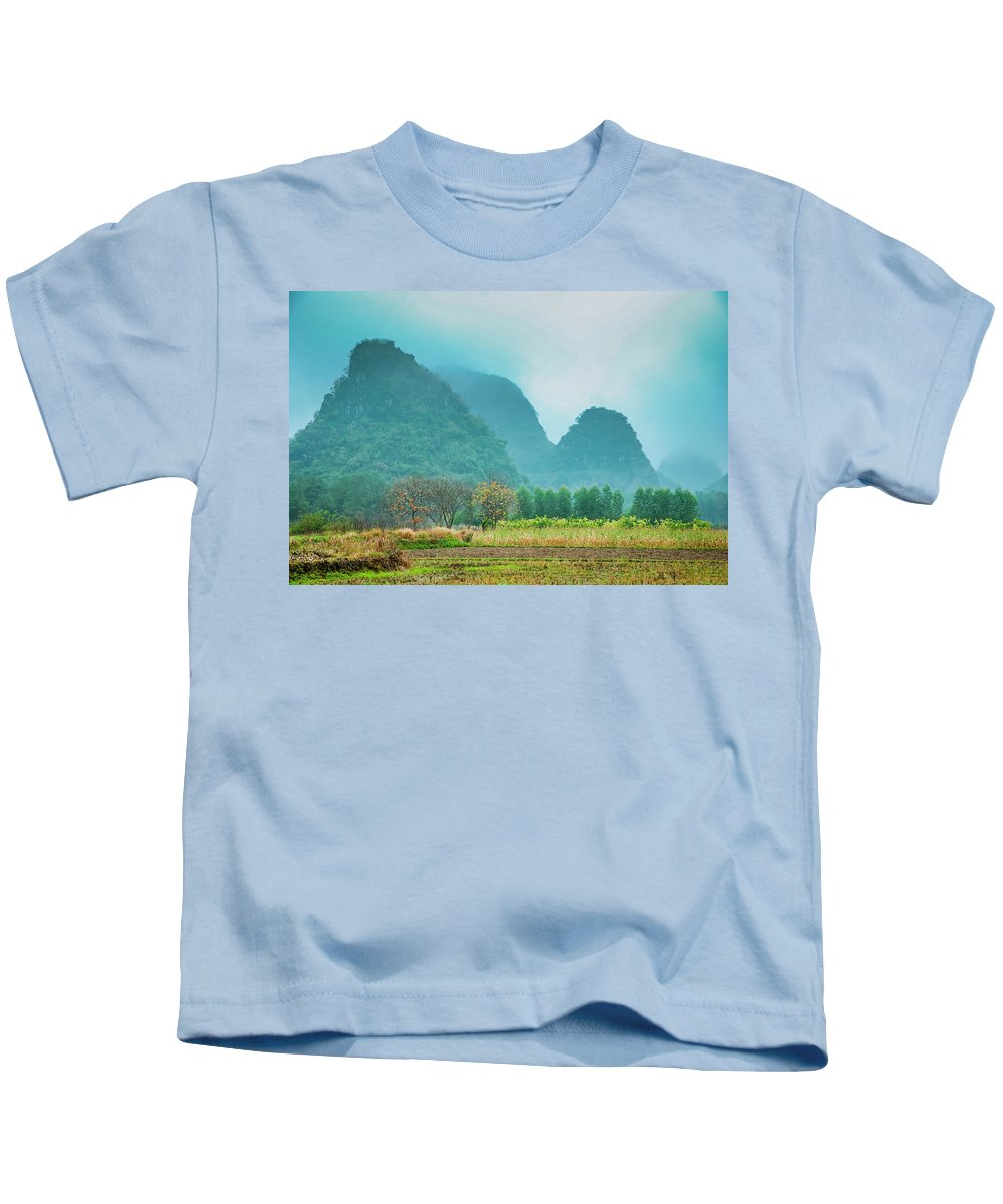 Countryside Kids T-Shirt featuring the photograph Beautiful Countryside Scenery In Autumn by Carl Ning