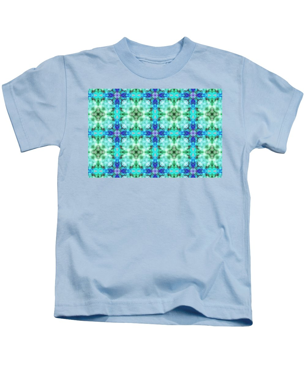 Marjan Mencin Kids T-Shirt featuring the digital art Arabesque 108 by Marjan Mencin