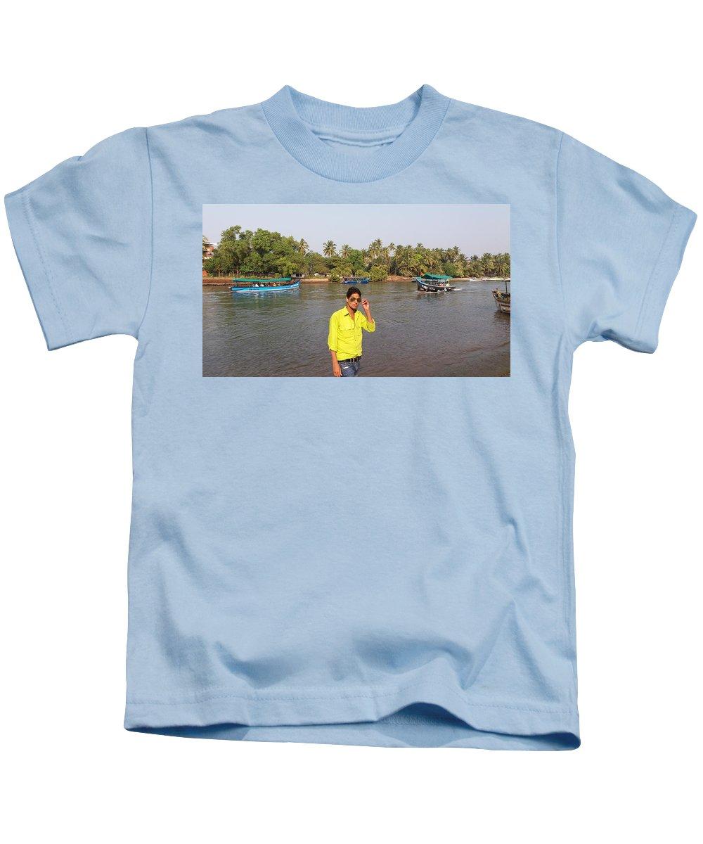 Harpal Singh Jadon Kids T-Shirt featuring the pyrography Harpal Singh Jadon by Harpal Singh Jadon