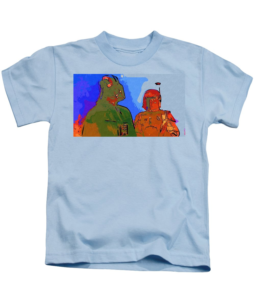 Star Wars Kids T-Shirt featuring the digital art Star Wars Heroes Poster by Larry Jones