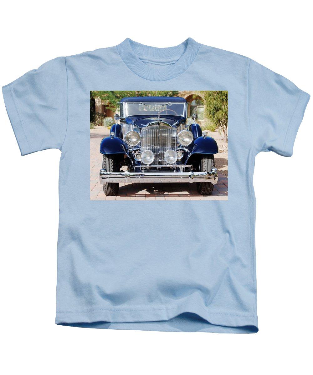 Car Kids T-Shirt featuring the photograph 1933 Packard 12 Convertible Coupe by Jill Reger