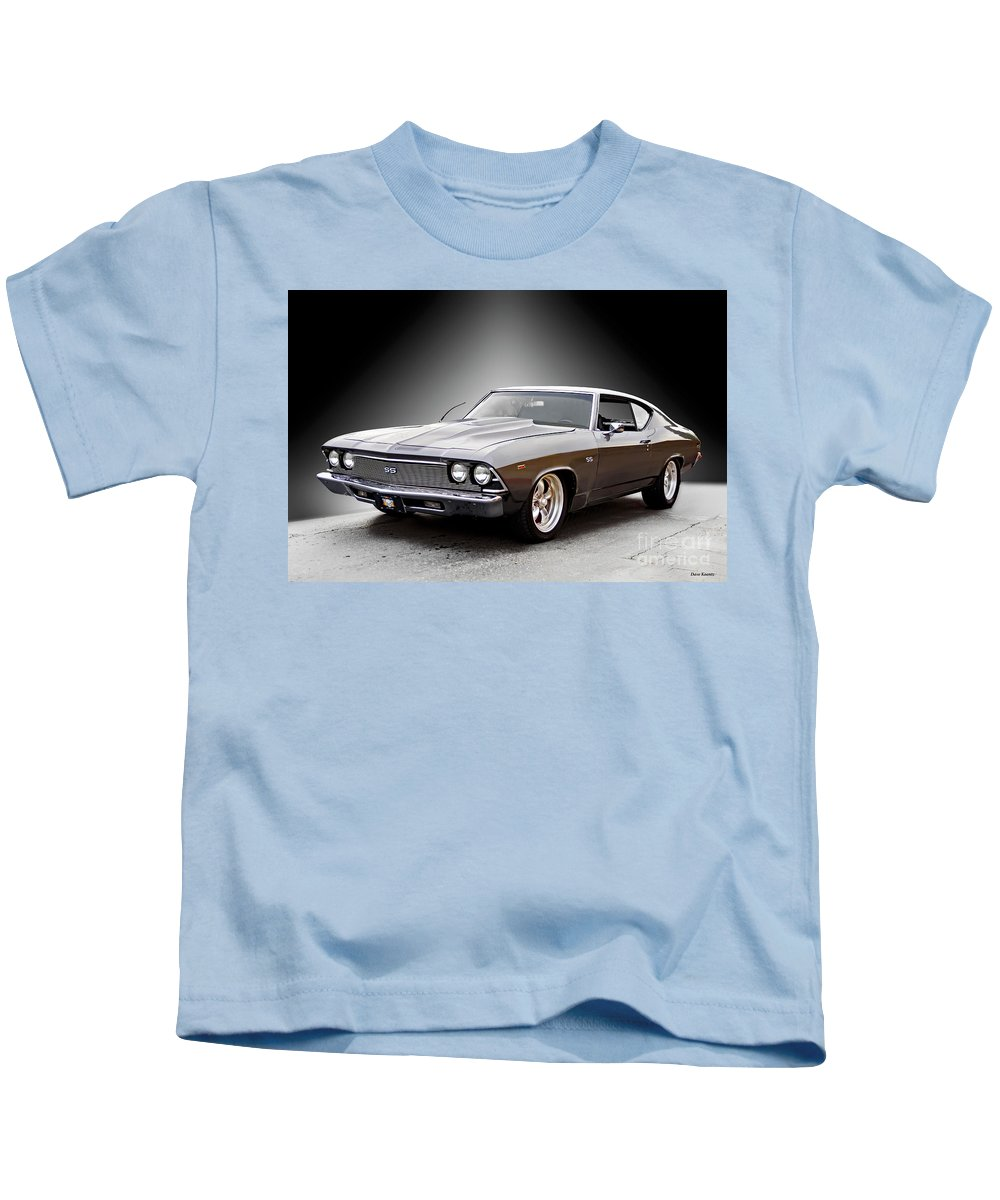 Automobile Kids T-Shirt featuring the photograph 1968 Chevelle Super Sport Ll by Dave Koontz