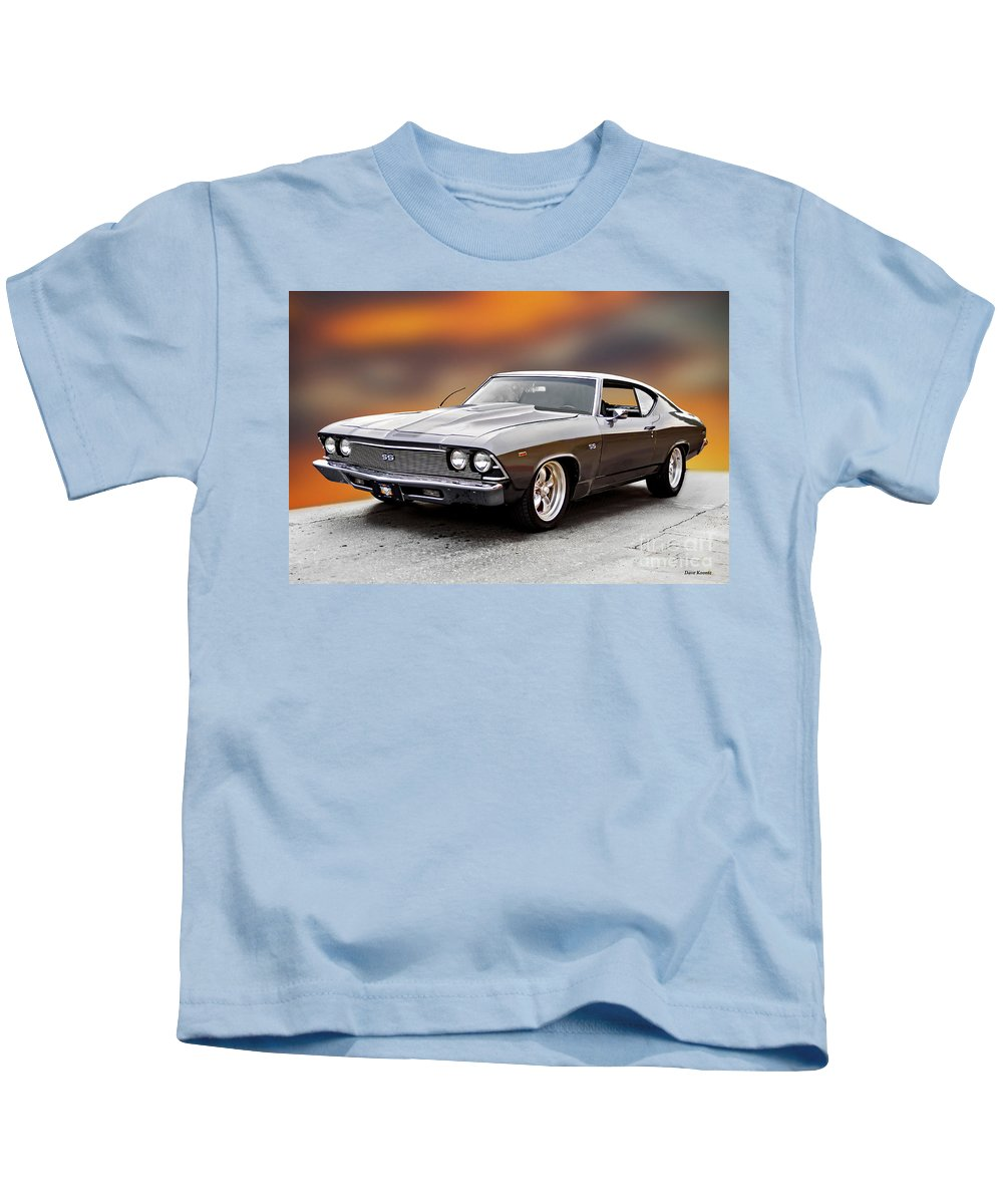 Automobile Kids T-Shirt featuring the photograph 1968 Chevrolet Chevelle Ss L by Dave Koontz