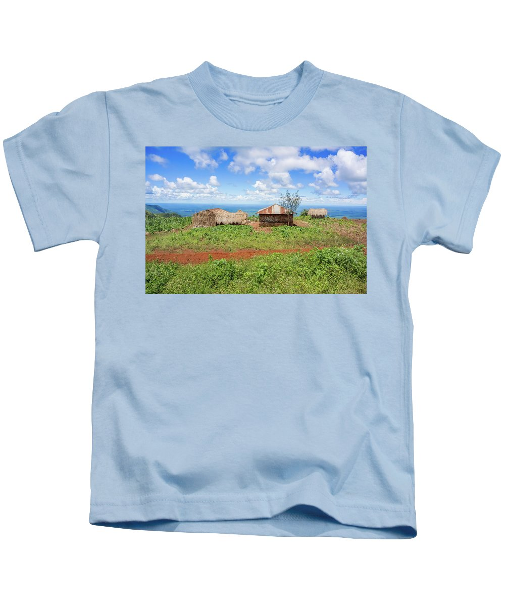 Picturesque Kids T-Shirt featuring the photograph Rural Landscape In Tanzania by Marek Poplawski