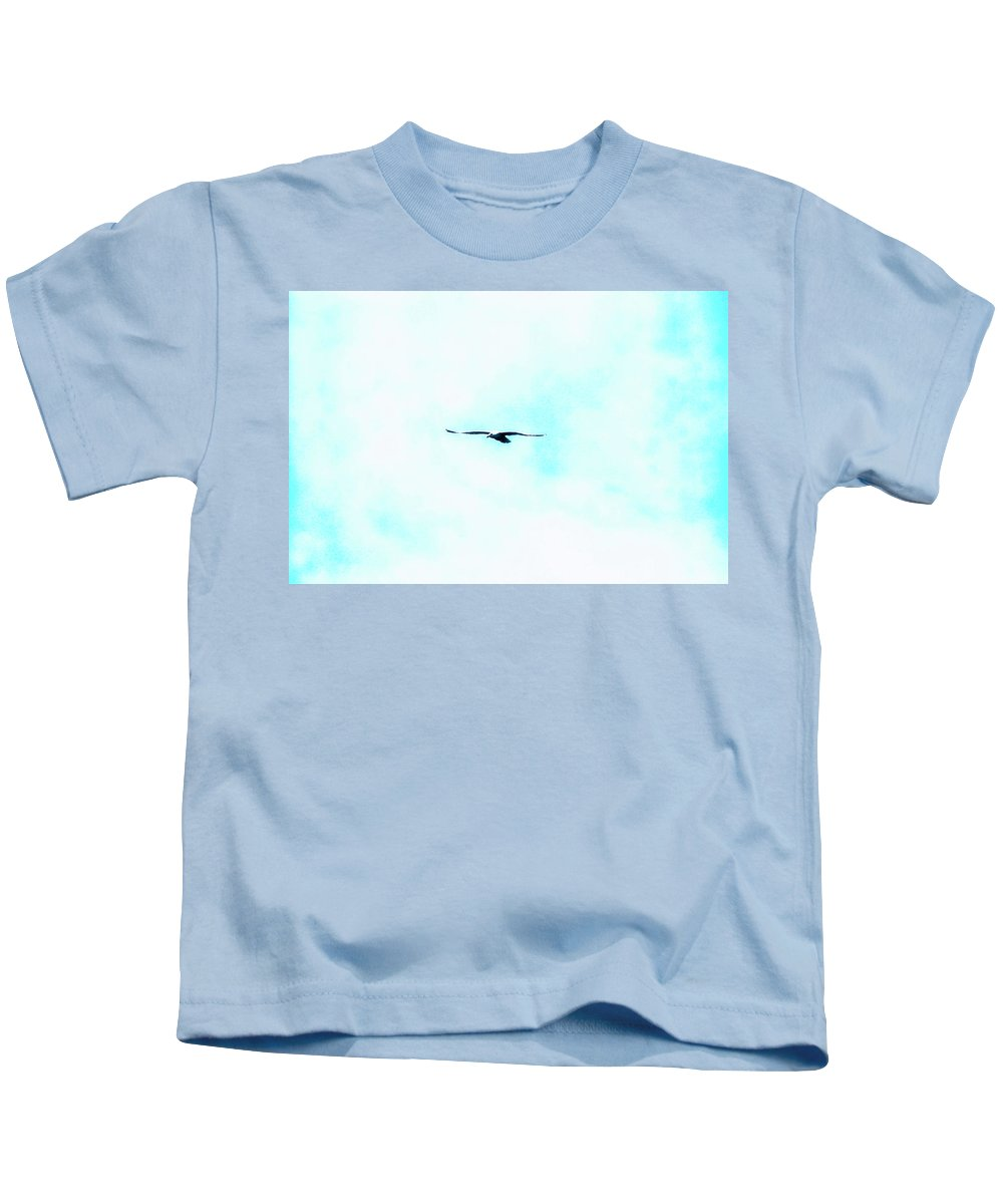 Bird Kids T-Shirt featuring the photograph Seagull by Frances Lewis