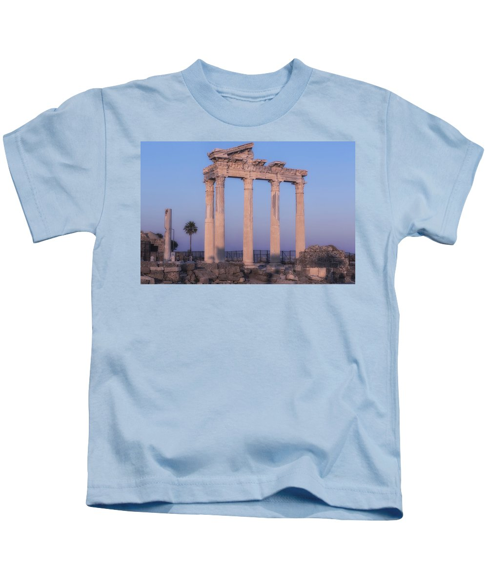 Temple Of Appollo Kids T-Shirt featuring the photograph Side - Turkey by Joana Kruse