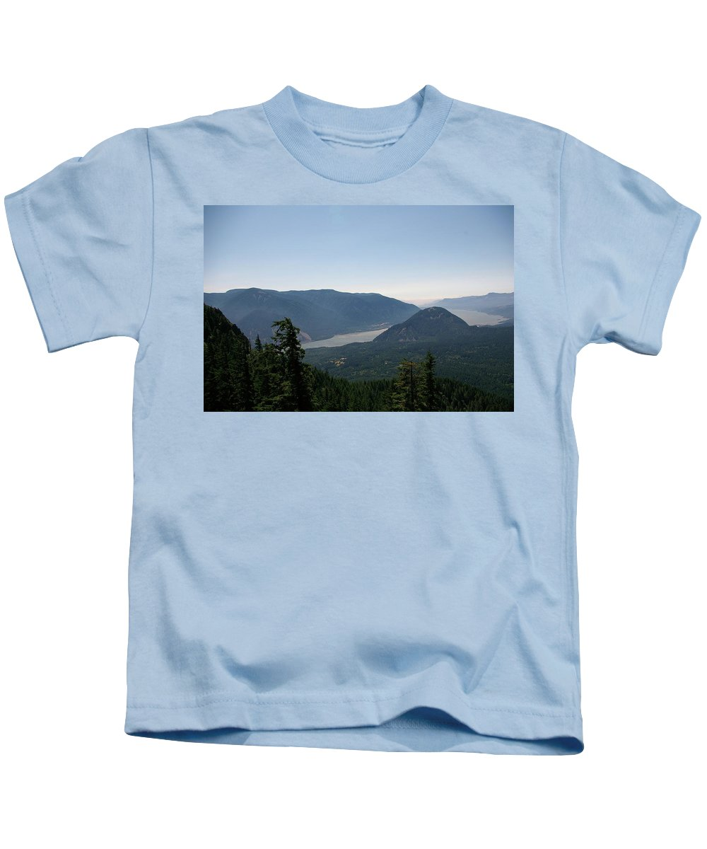 Scenic. Views Kids T-Shirt featuring the photograph The Columbia River by Jeff Swan