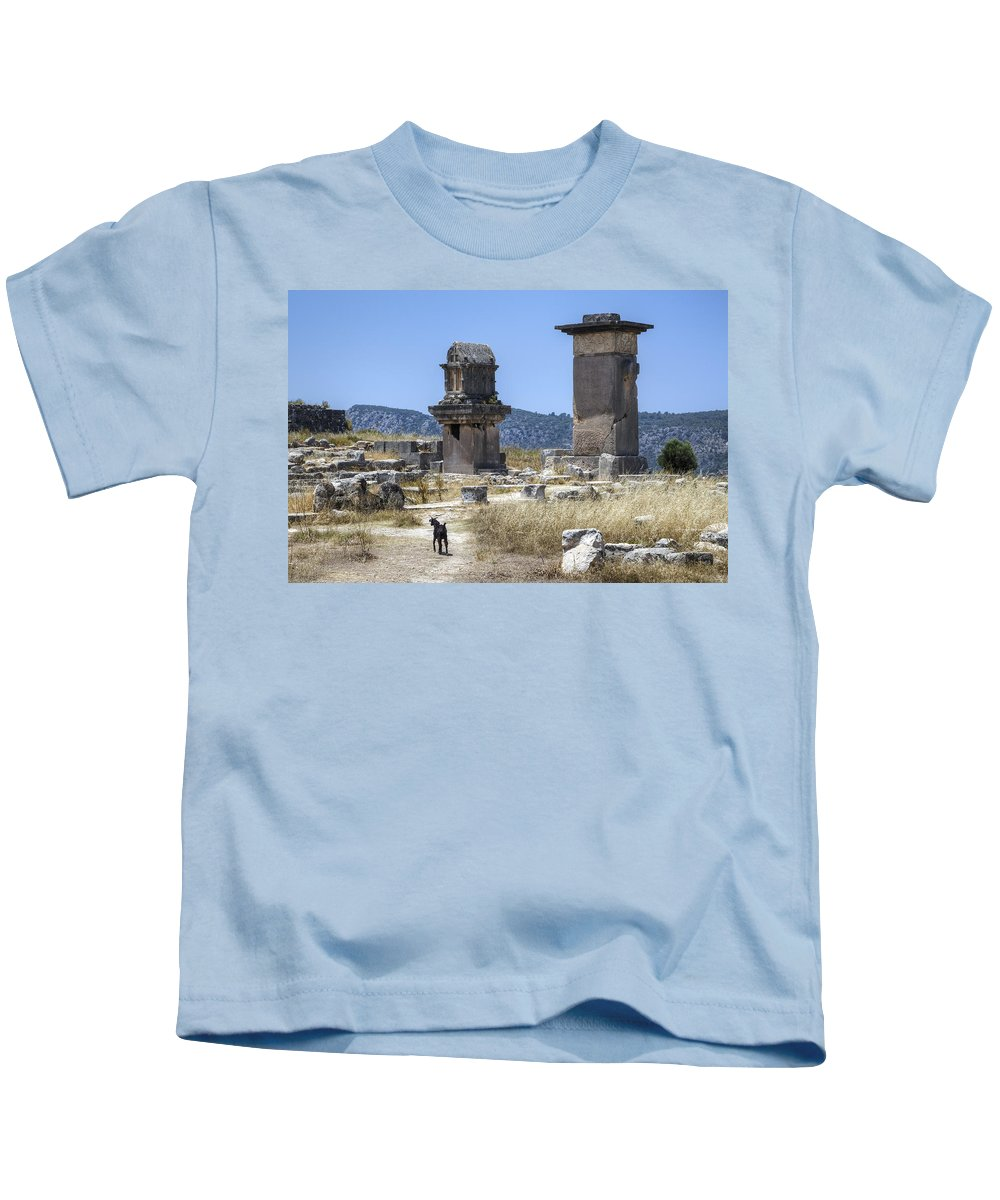 Xanthos Kids T-Shirt featuring the photograph Xanthos - Turkey by Joana Kruse