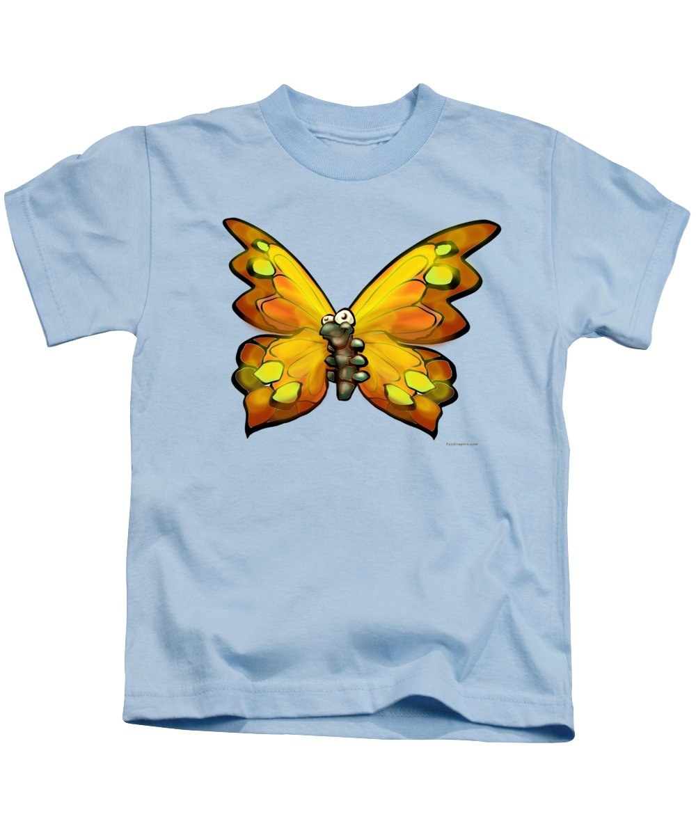 Butterfly Kids T-Shirt featuring the painting Butterfly by Kevin Middleton