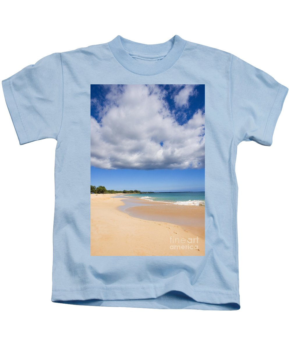 Afternoon Kids T-Shirt featuring the photograph Makena Beach by Ron Dahlquist - Printscapes