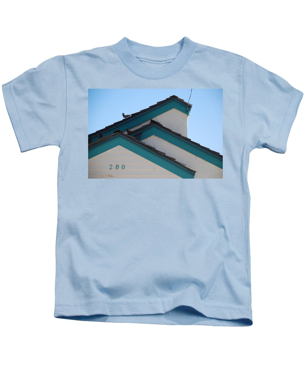 Birds Kids T-Shirt featuring the photograph 3 Roofs by Rob Hans