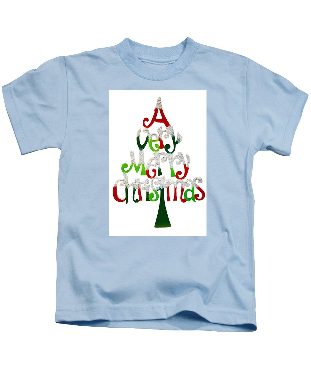 Witchcraft Kids T-Shirt featuring the digital art Christmas. by Frederick Holiday