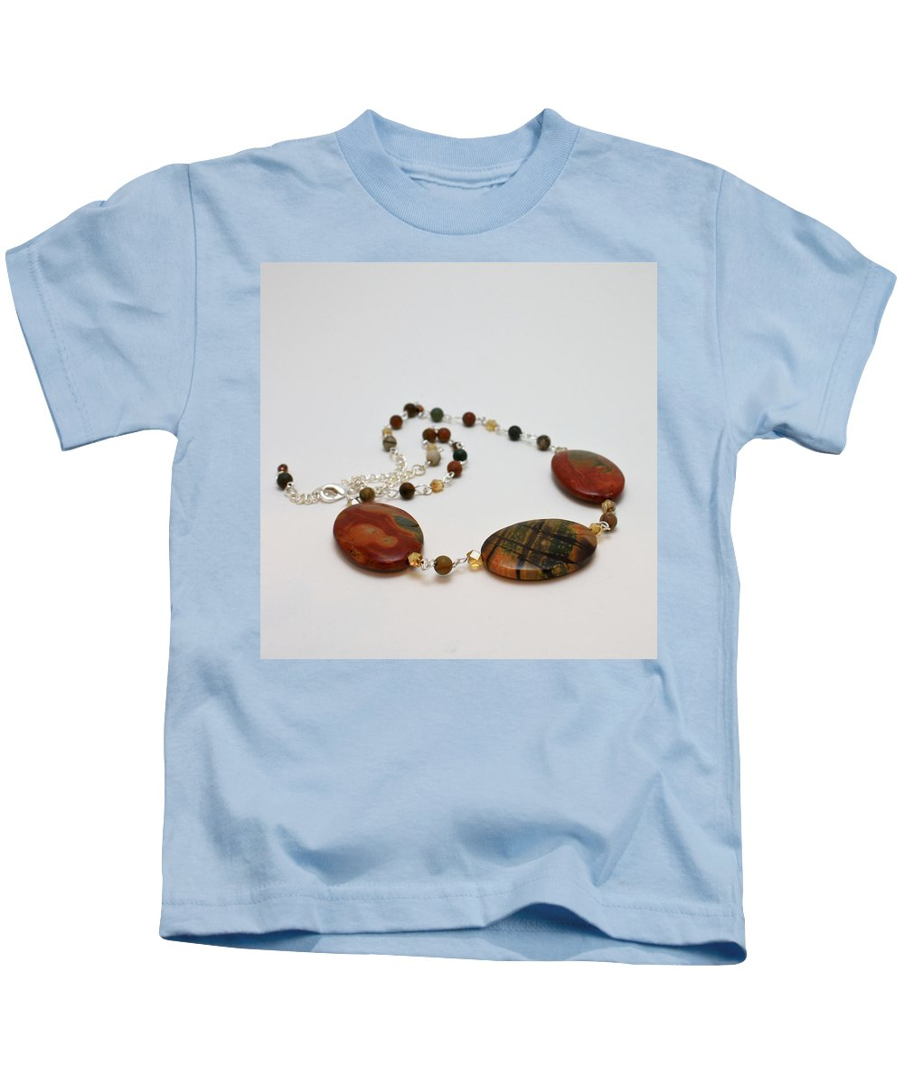 Handmade Kids T-Shirt featuring the jewelry 3586 Picasso Jasper Necklace by Teresa Mucha