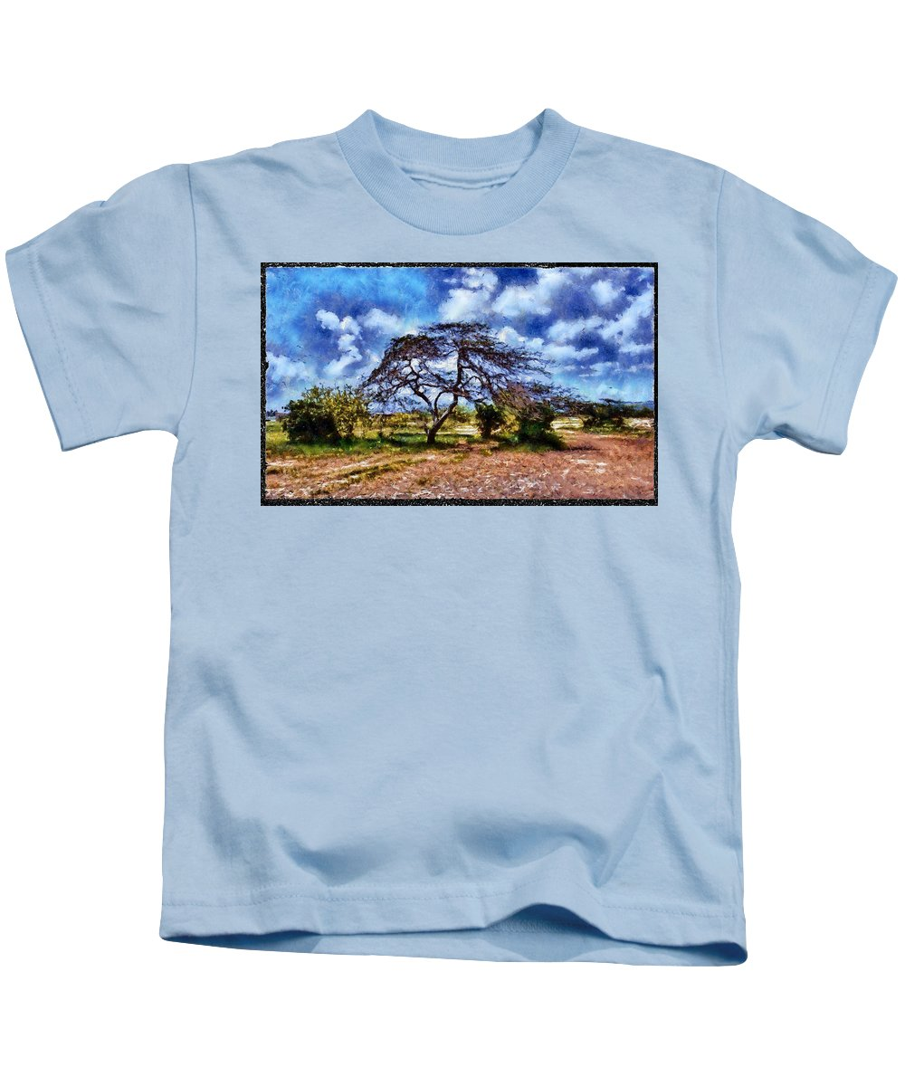 Desert Kids T-Shirt featuring the photograph Desertic Tree by Galeria Trompiz