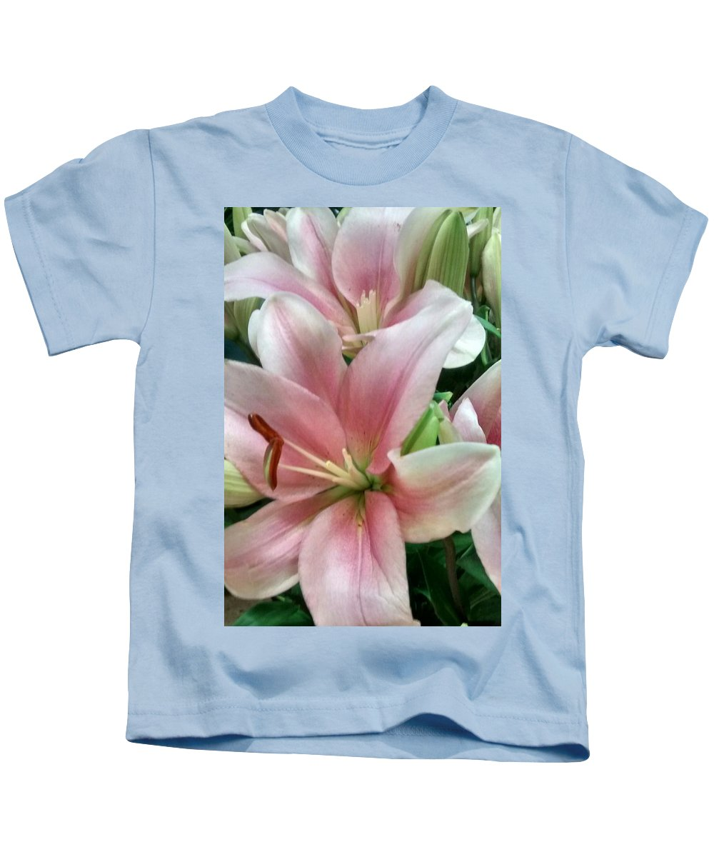Pink Kids T-Shirt featuring the photograph Flower Collection by Sylvester Wofford