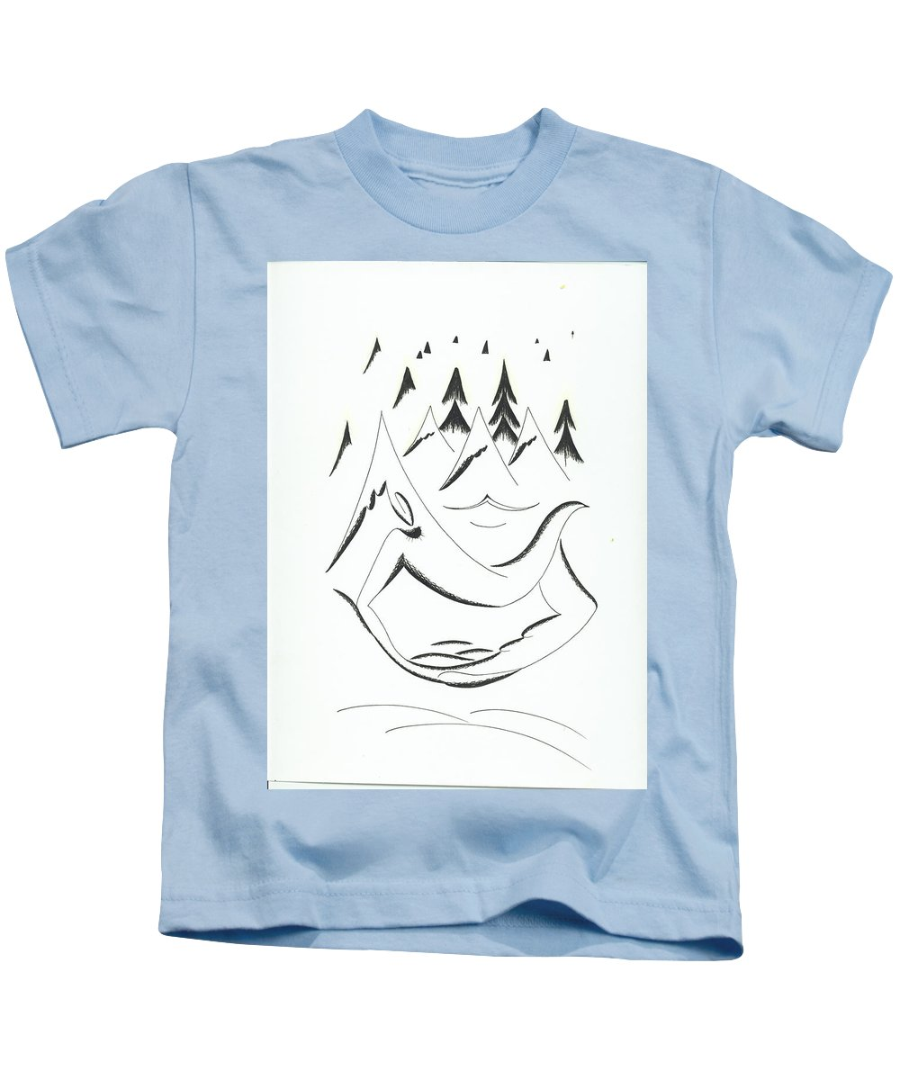 Graphics Kids T-Shirt featuring the drawing Graphics by Ira Mizkevish