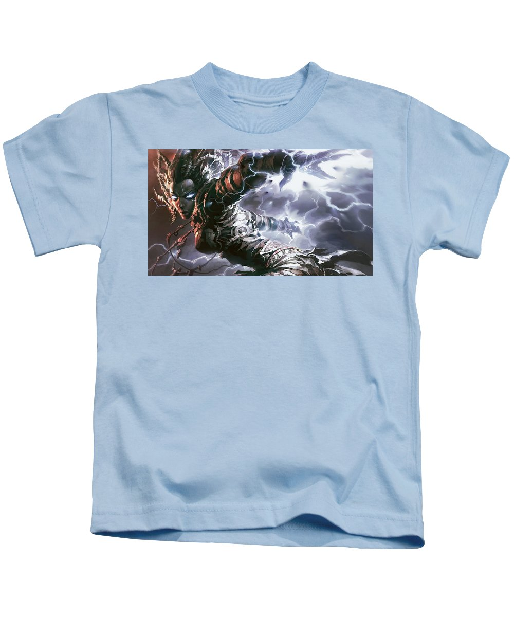 Magic The Gathering Kids T-Shirt featuring the digital art Magic The Gathering by Dorothy Binder