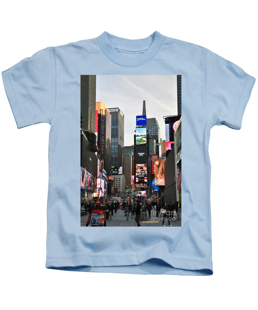 Destination Kids T-Shirt featuring the photograph Times Square by Douglas Sacha