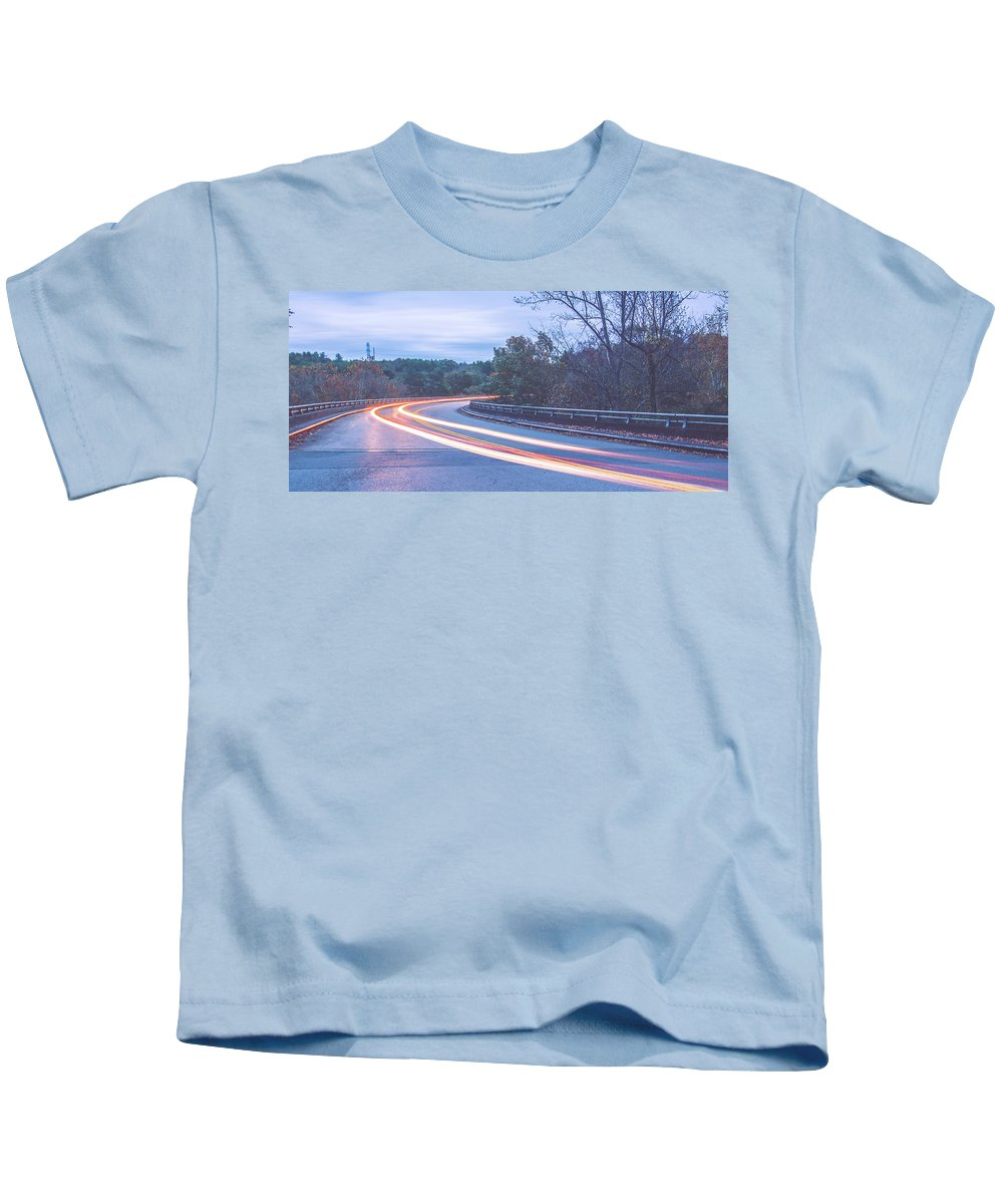 Mountain Kids T-Shirt featuring the photograph Beautiful Autumn Landscape In North Carolina Mountains by Alex Grichenko