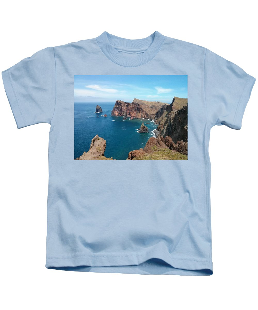 Beach Kids T-Shirt featuring the photograph Coastal by FL collection