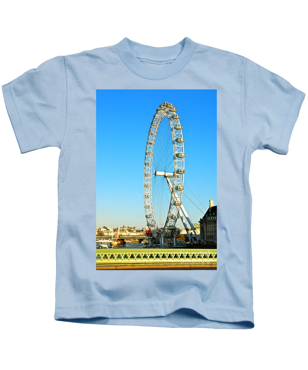 London Eye Kids T-Shirt featuring the photograph London Eye by Kayme Clark