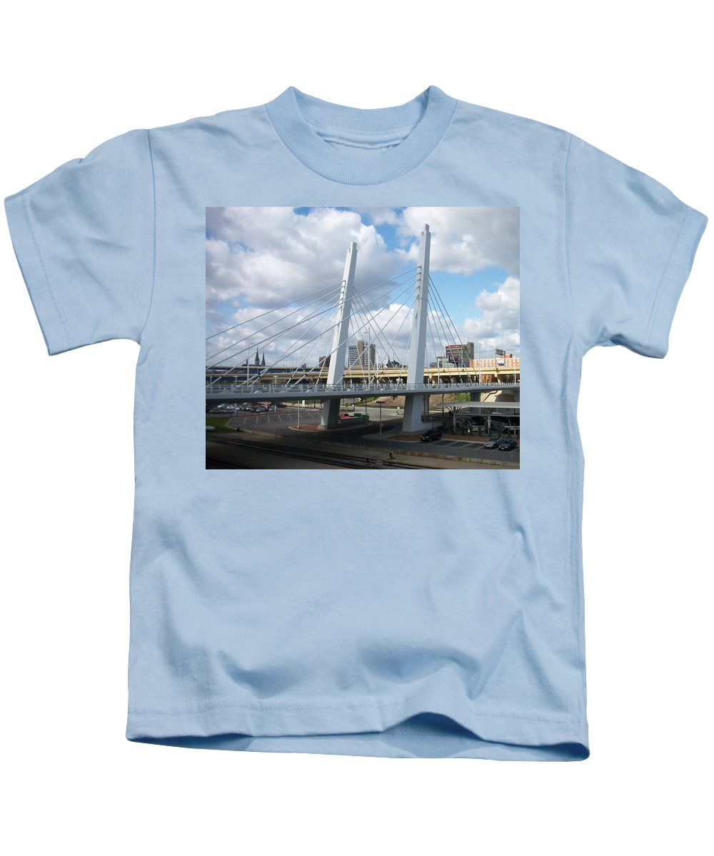 Bridge Kids T-Shirt featuring the photograph 6th Street Bridge by Anita Burgermeister