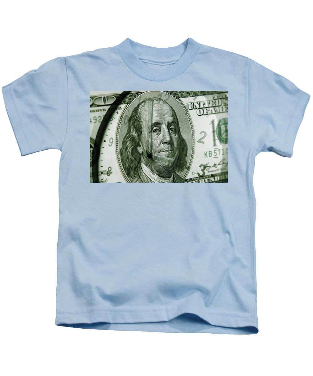 Time Is Money Kids T-Shirt featuring the photograph Time Is Money by Les Cunliffe