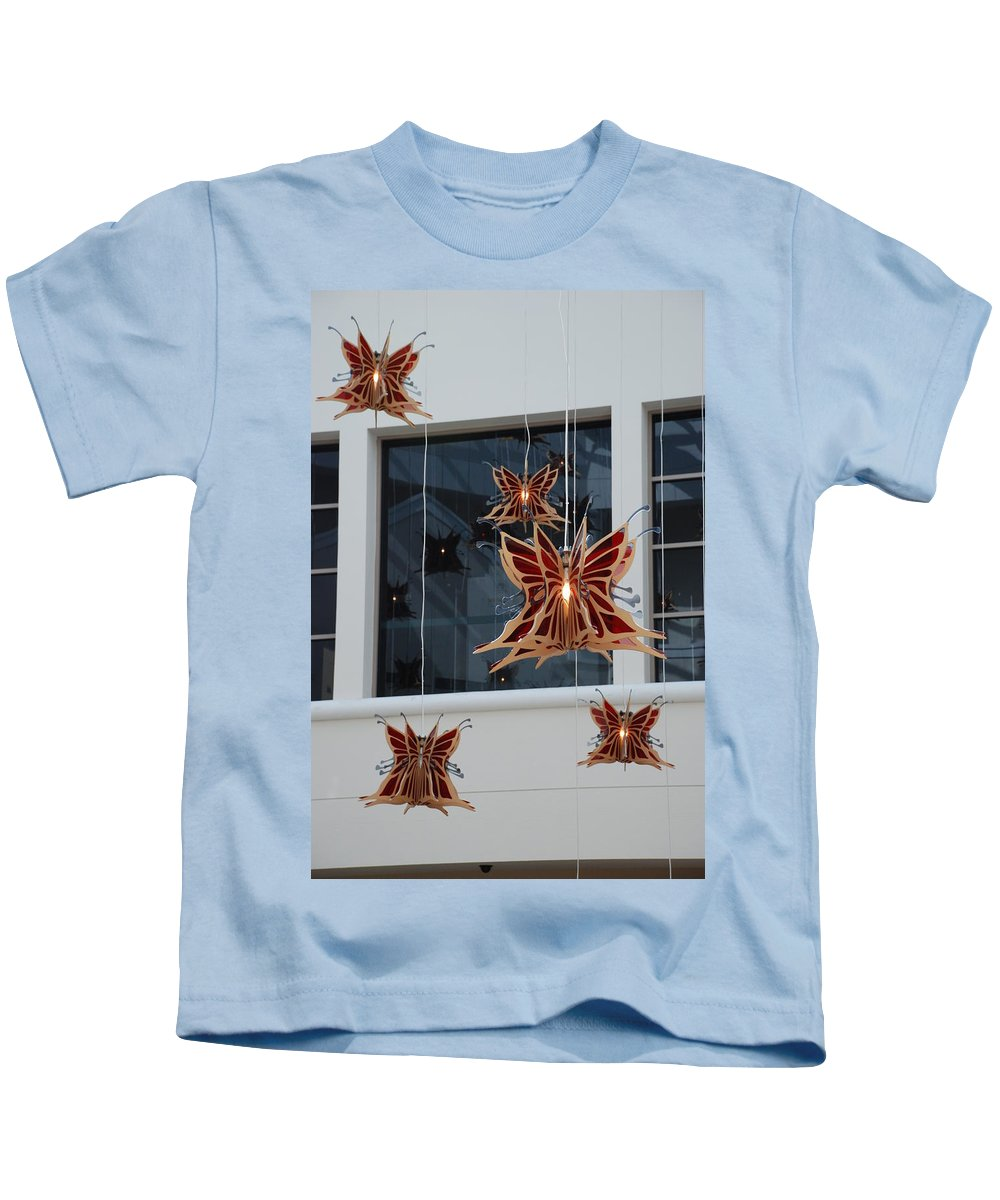 Architecture Kids T-Shirt featuring the photograph Hanging Butterflies by Rob Hans
