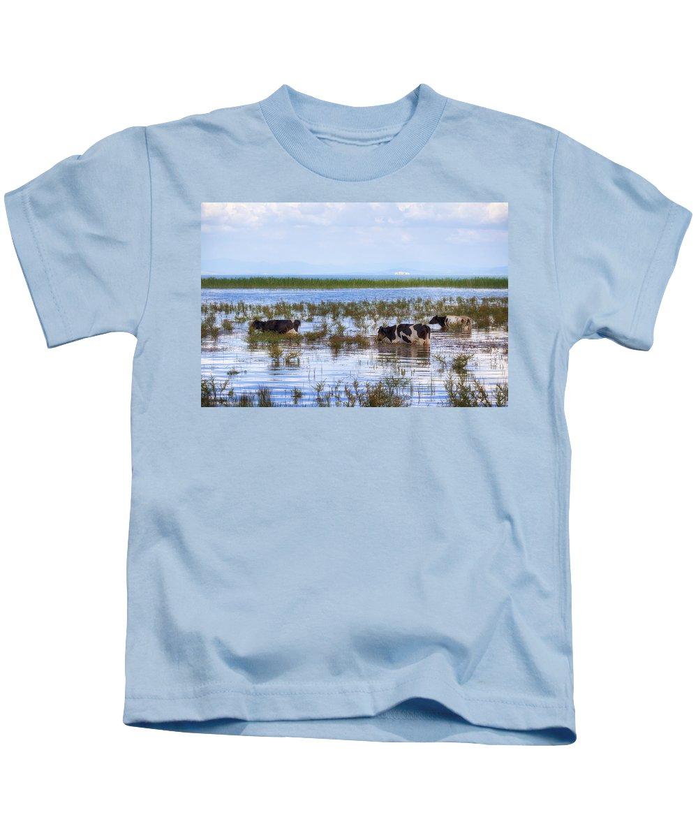 Lake Beysehir Kids T-Shirt featuring the photograph Lake Beysehir - Turkey by Joana Kruse