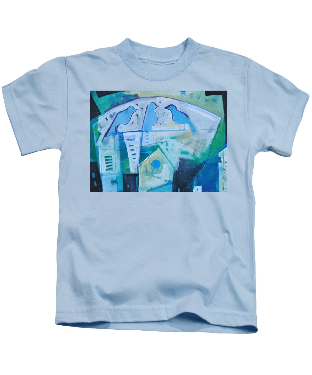 Birds Kids T-Shirt featuring the painting A Birds Life by Tim Nyberg