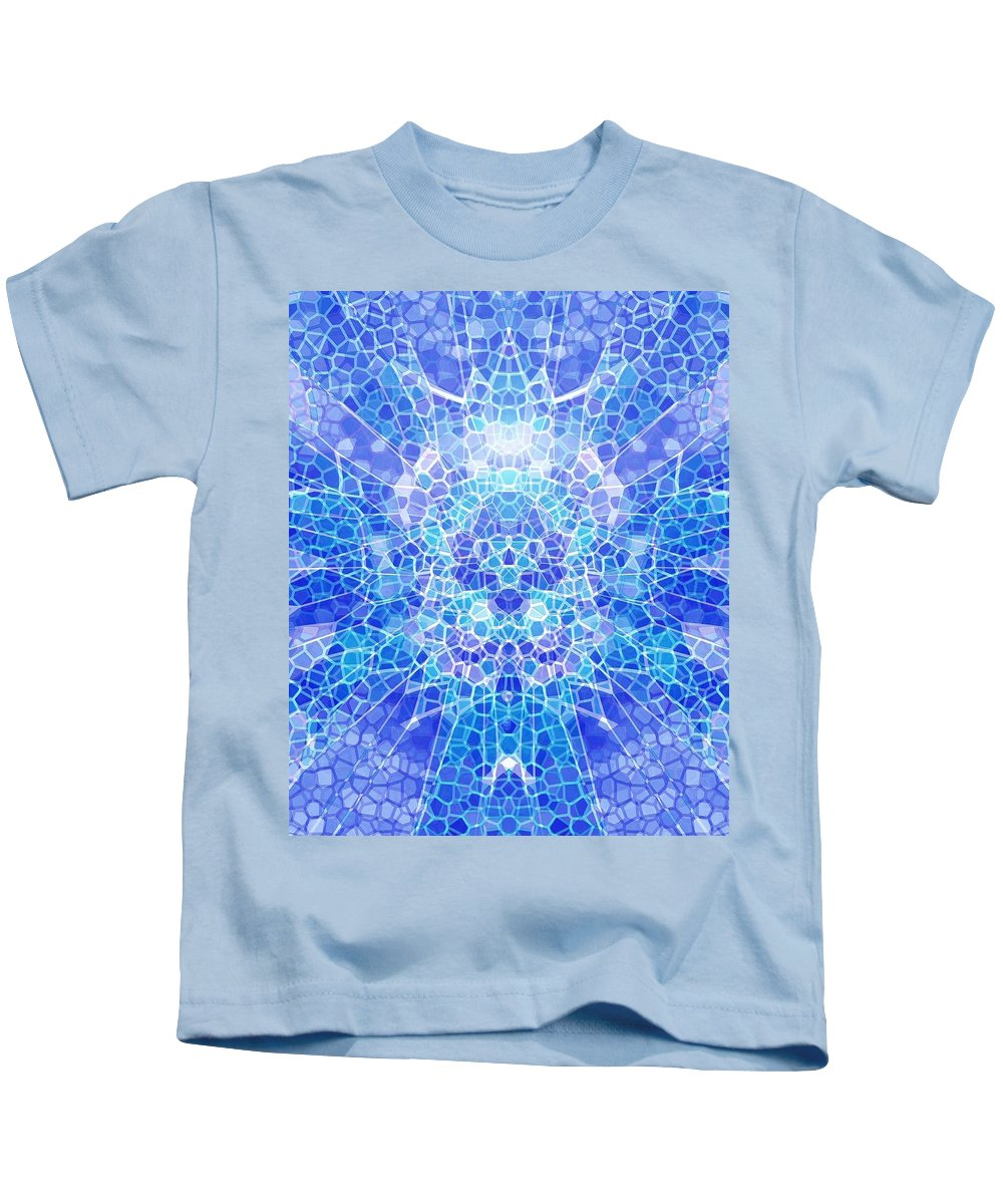 Abstract Kids T-Shirt featuring the digital art A Brilliant Mind by Mark Sellers