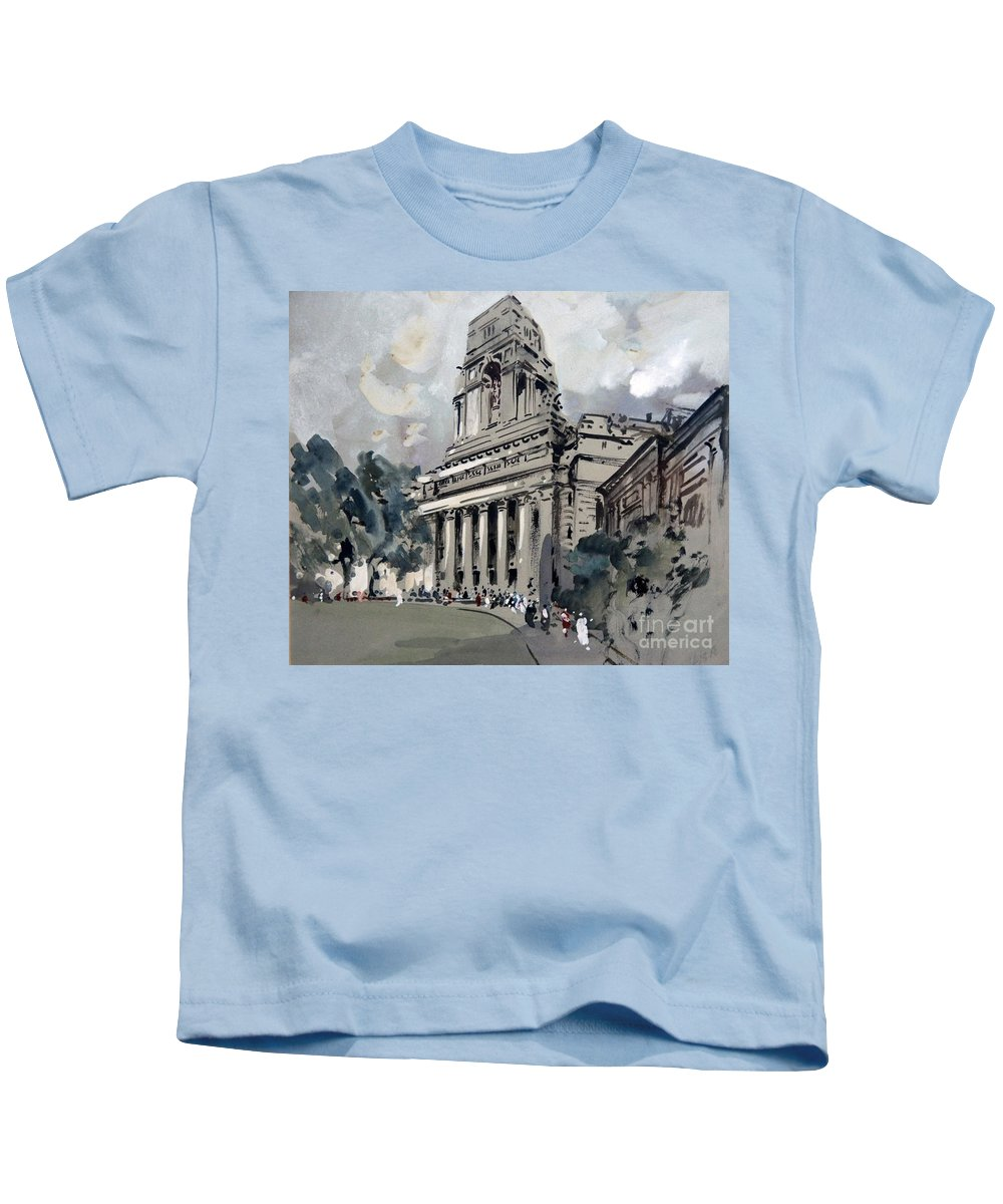 Hercules Brabazon Brabazon - A Catholic Church Kids T-Shirt featuring the painting A Catholic Church by MotionAge Designs