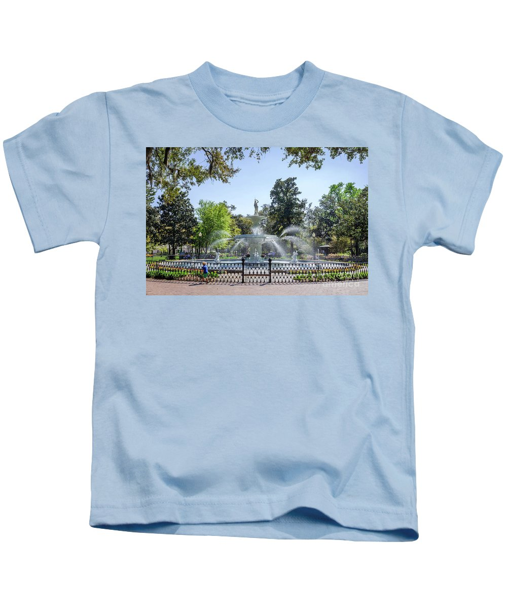 Savannah Kids T-Shirt featuring the photograph A Day At The Park by Joan McCool