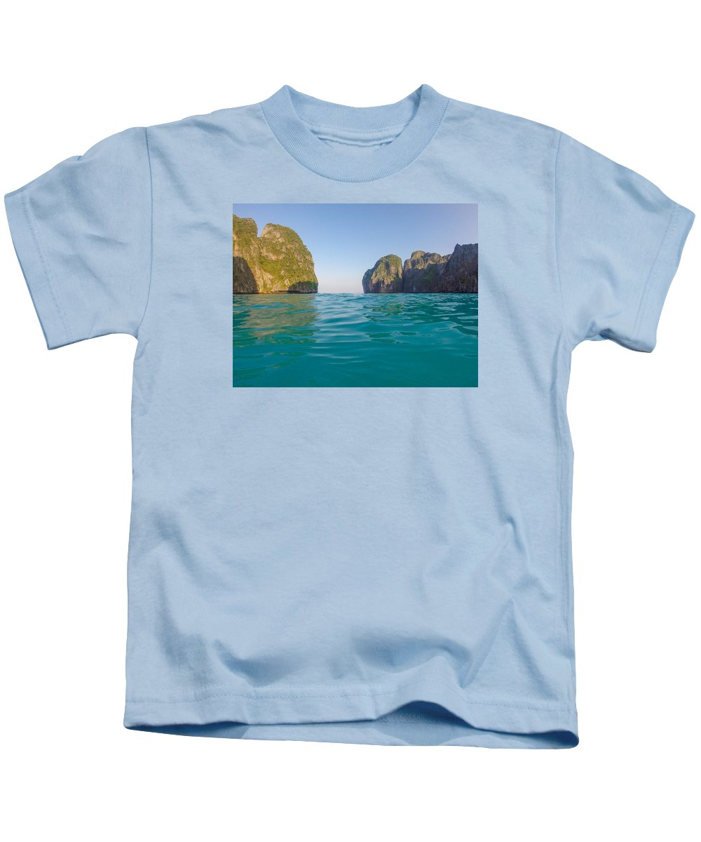 Maya Bay Kids T-Shirt featuring the photograph A Dip In Maya by Megan Martens