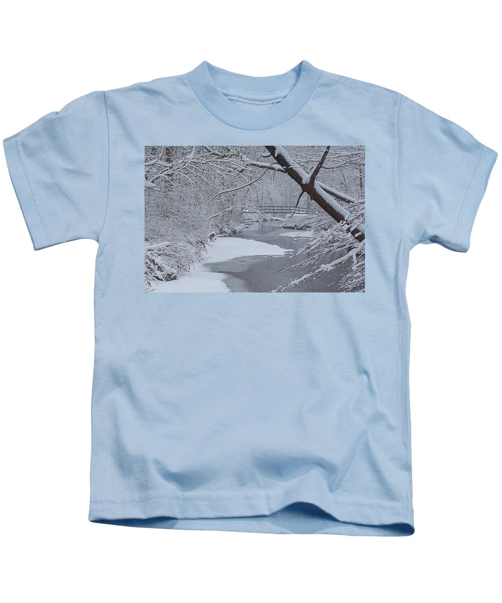 Snow Kids T-Shirt featuring the photograph A Forgotten Place by Frozen in Time Fine Art Photography