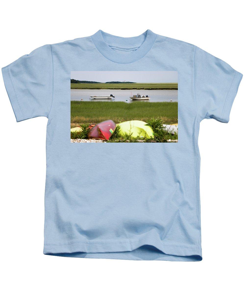 View Kids T-Shirt featuring the photograph A Nauset Marsh View by Robert Anastasi