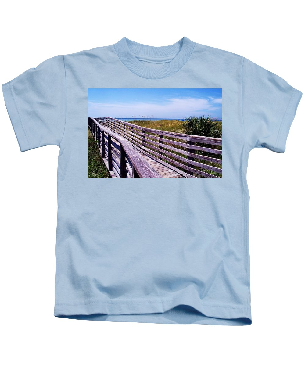 Beach Kids T-Shirt featuring the photograph A Walk To The Beach by Robin Monroe