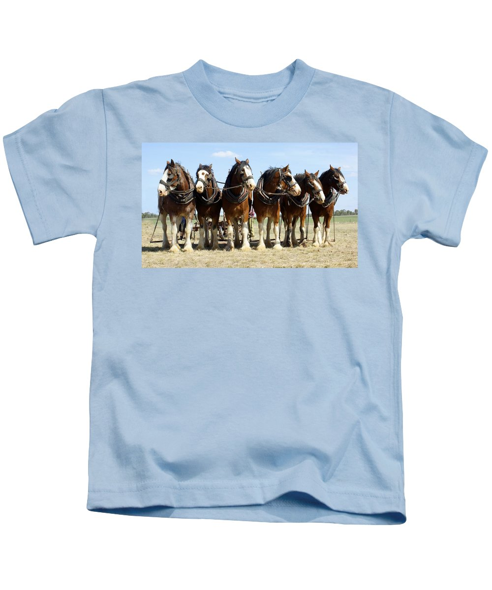 Kathryn Potempski Kids T-Shirt featuring the photograph A Working Day by Kathryn Potempski