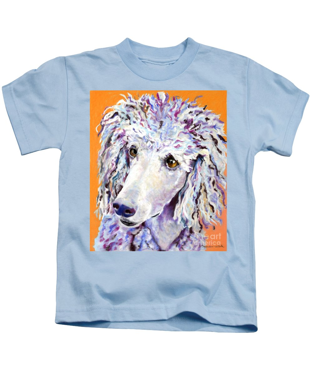Standard Poodle Kids T-Shirt featuring the pastel Above The Standard  by Pat Saunders-White