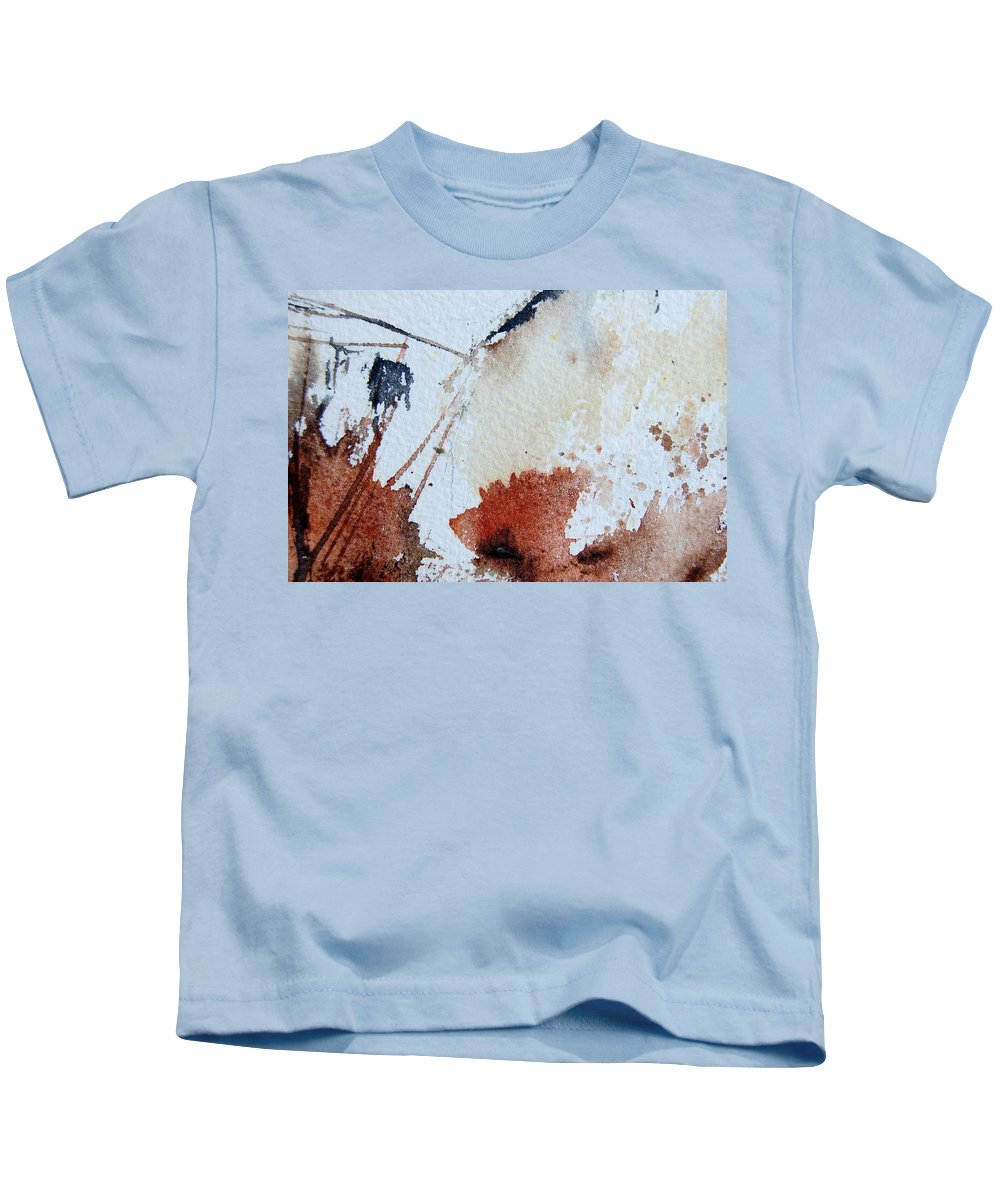 Abstract Kids T-Shirt featuring the painting Abstract 9037 by Pol Ledent