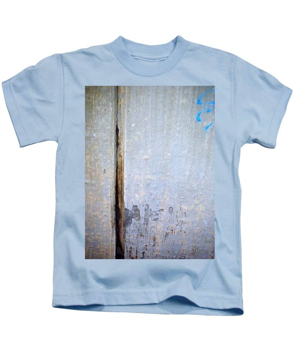 Industrial. Urban Kids T-Shirt featuring the photograph Abstract Concrete 19 by Anita Burgermeister
